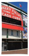 Chicago Cubs - Wrigley Field Beach Towel by Frank Romeo