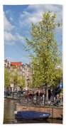 City Of Amsterdam Cityscape Beach Towel