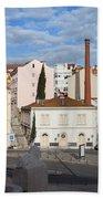City Of Lisbon In Portugal Beach Towel