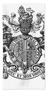 Coat Of Arms Great Britain Beach Sheet