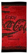 Coca Cola Classic Vintage Rusty Sign Beach Towel