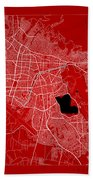 Cochabamba Street Map - Cochabamba Bolivia Road Map Art On Color Beach Towel