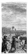 Cotton Plantation, 1867 Beach Towel