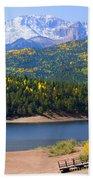 Crystal Lake On Pikes Peak Beach Towel