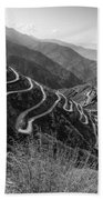 Curvy Roads Silk Trading Route Between China And India Beach Towel
