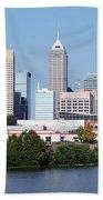 Downtown Indianpolis Indiana Skyline Beach Towel