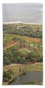 East Coast Aerial Near Jekyll Island Beach Towel