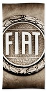 Fiat Emblem Beach Towel