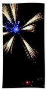 Fireworks In Neon Beach Towel