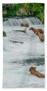 5 Grizzlies Beach Towel