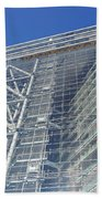 Low Angle View Of An Office Building Beach Towel