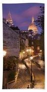 Montmartre Twilight Beach Towel