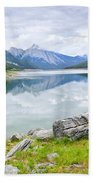 Mountain Lake In Jasper National Park Beach Towel