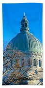 Naval Academy Chapel Beach Towel