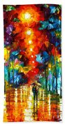 Night Park Beach Towel