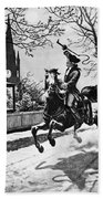 Paul Reveres Ride, 1775 Beach Towel