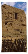 Ruins Of The Pecos Pueblo Mission Beach Towel