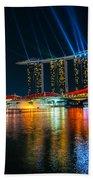 Singapore City Skyline Beach Towel