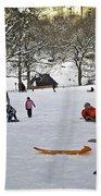 Snowboarding  In Central Park  2011 Beach Sheet