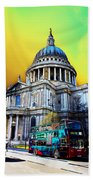 St Pauls Cathedral London Art Beach Towel by David Pyatt