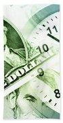 Time Is Money Beach Towel