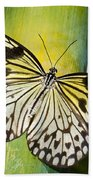 Tree Nymph Butterfly Beach Towel