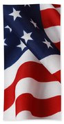 USA Beach Towel by Les Cunliffe