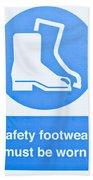 Warning Sign Beach Towel