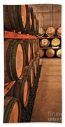 Wine Barrels Beach Towel by Elena Elisseeva