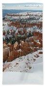 Winter Scene, Bryce Canyon National Park Beach Towel