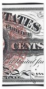 50 Cent Lincoln Bill  1863 Beach Towel