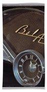 57 Chevy Bel Air Dash Beach Towel
