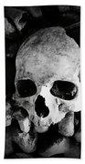 Skulls And Bones In The Catacombs Of Paris France Beach Towel