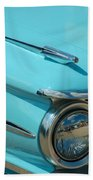 59 Pontiac Catalina Hood Ornament Beach Towel