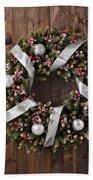 Advent Christmas Wreath Decoration Beach Towel