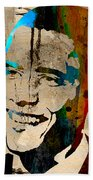 Barack Obama Beach Towel by Marvin Blaine