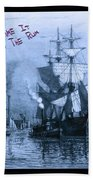Blame It On The Rum Schooner Beach Towel