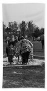 Children Playing Inside The Blair Drummond Safari Park Beach Towel