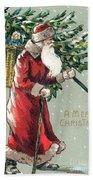 Christmas Card Beach Sheet