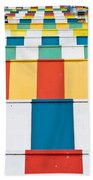 Colorful Roofs Beach Towel