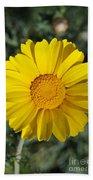 Crown Daisy Flower Beach Towel