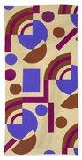 Design From Nouvelles Compositions Decoratives Beach Towel