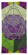 Dodecahedron In A Metatron's Cube Beach Towel