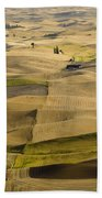 Farm Fields Beach Towel