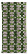 Flowers From Cherryhill Nj America Silken Sparkle Purple Tone Graphically Enhanced Innovative Patter Beach Towel