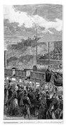 Locomotive Rocket, 1829 Beach Towel