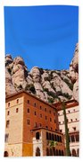 Monastery In Montserrat Beach Towel