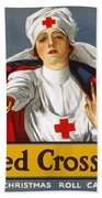 Red Cross Poster, 1917 Beach Towel