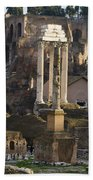Ruins In The Roman Forum Rome Italy Beach Towel