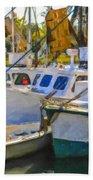 Shrimp Boats Beach Towel